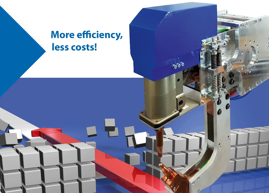 Efficient spot welding of aluminium with the new ELMA-Tech welding process.