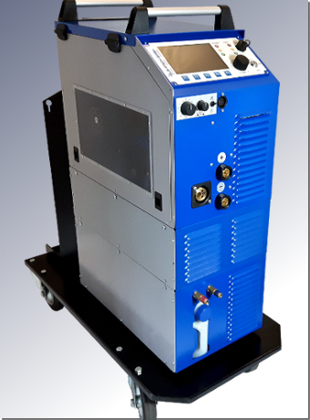 Water-cooled ELMA-Tech AC welding machine MIDI MIG 300/800 AC / DC W with VM3 welding process control.